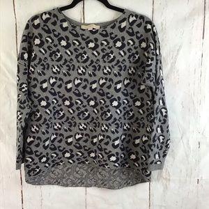 Ann Taylor Loft leopard print sweater Xs